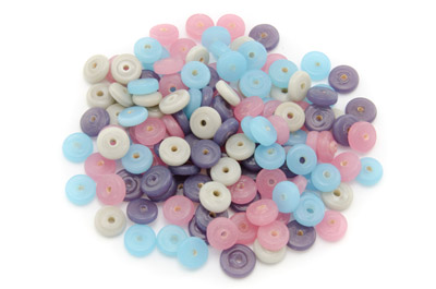 bead mix washer 10mm pink turquoise 100gr
