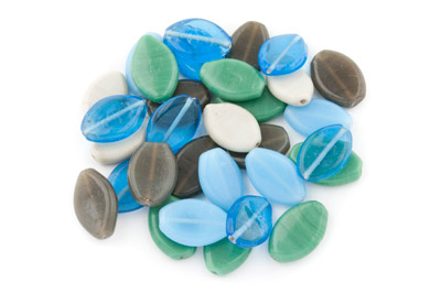 Bead mix oval flat 200g