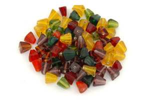 mix pyramide 10mm fleuri brillant 100g
