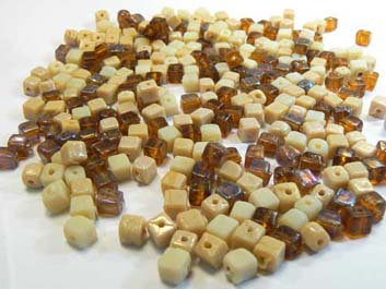 mix cubes topaze beige brillant 100g