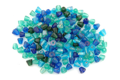 assortiment cône 8mm turquoise teal brillant 100g