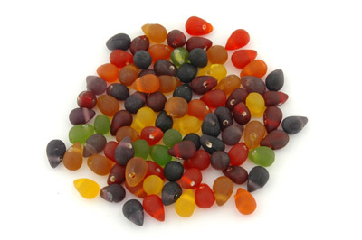 mix gouttes 15mm fleuri brillant 100g