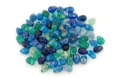 mix gouttes 15mm teal brillant 100g