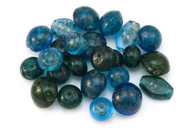 bead mix inclusion turquoise 300gr