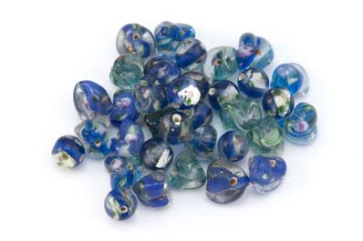 bead mix flower lagoon blue 50gr