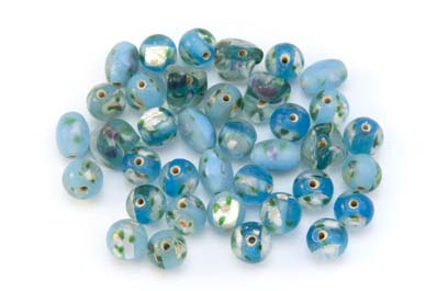 bead mix flower turquoise 50gr