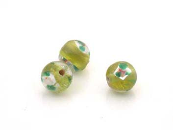 flower 8mm olive green 50 pce
