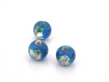 flower 8mm teal blue 50 pce