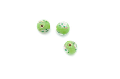 flower 8mm apple green 50 pce