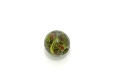 inclusion ronde 22mm vert olive 300g