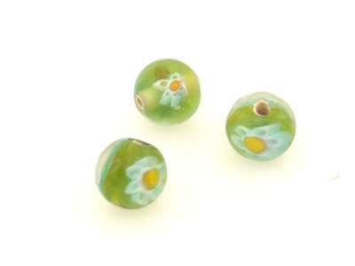daisy round olive green 10mm 50 pces