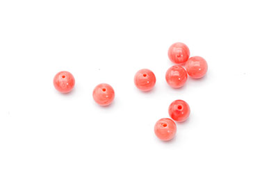 coral bamboo orange round 6mm x1fil