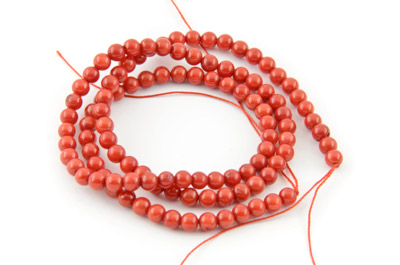 coral bambou round 4mm x1 std (approx 105pcs)