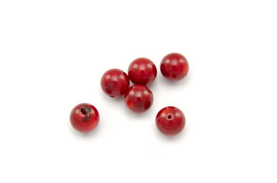 coral bambou red round 8mm x1 std (approx 50pcs)