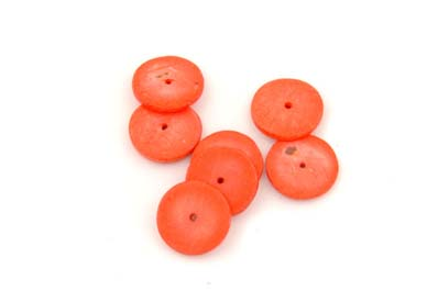 coco rondelle 15mm orange 1 fil