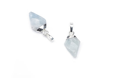 aquamarine pendant faceted arrowhead 11X17mm x2pcs