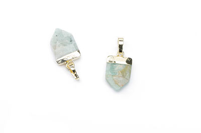 arrowhead amazonite pendant 10X15mm, Golden Color x1pce