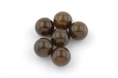 agate marron ronde 12mm x1 fil (env 33pcs)