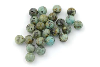 african turquoise ronde 8mm x1 fil (env 50pcs)