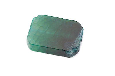 agate rectangle env 42x30mm vert x1 fil (9pcs)