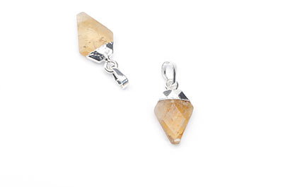 faceted faceted arrowhead citrine pendant 11X17mm x2pcs