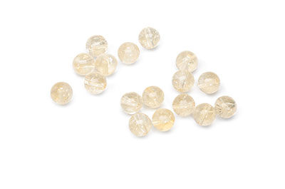 yellow citrine pearl 6mm x1strand