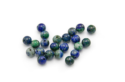 perle chrysocolle ronde 6mm x1 fil (env 62pcs)