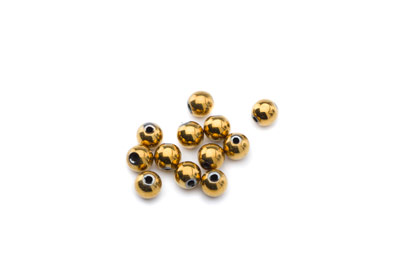 hematite gold color round 6mm x1 std (approx 70p)