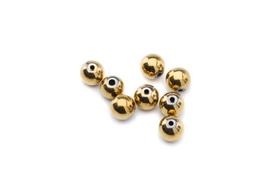 hematite gold color round 8mm x1 std (approx 52p)
