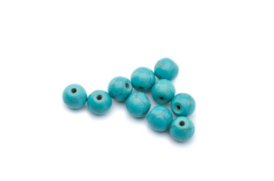 howlite turquoise round 8mm x1 std (approx 50p)