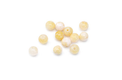 pearl mashan jade mixed colors tinted 6mm x1fil