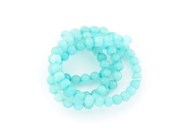 jade aqua round 4mm x1 std (approx 95p)