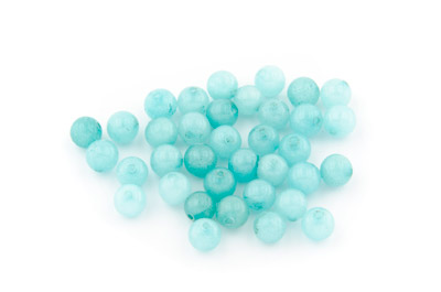 jade aqua round 6mm x1 std (approx 64p)