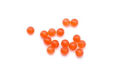 jade orange round 6mm x1 std (approx 65p)