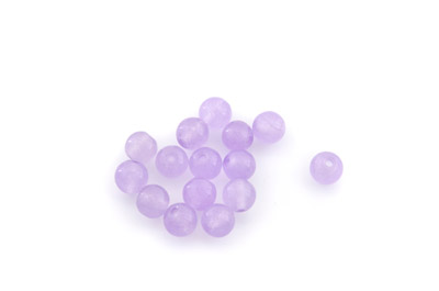 jade light purple round 6mm x1 std (approx 66pcs)