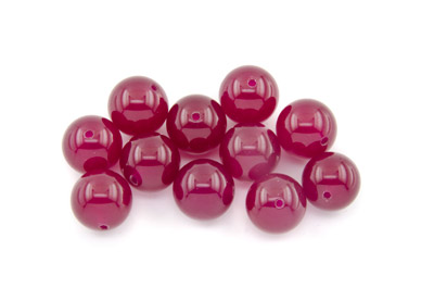 jade dark pink round 12mm x1 std (approx 33p)