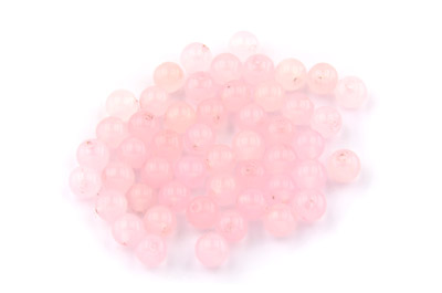 perle jade rose ronde 6mm x1 fil (env 64pcs)