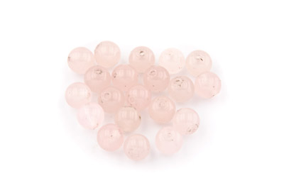 perle jade rose ronde 8mm x1 fil (env 49pcs)