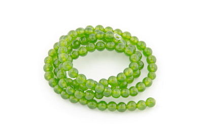 jade green round 4mm x1 std (approx 95p)