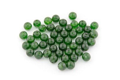 jade moss green round 6mm x1 std (approx 66p)