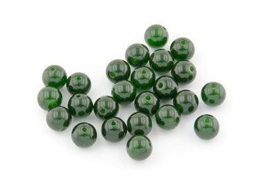 jade moss green round 8mm x1 std (approx 50p)