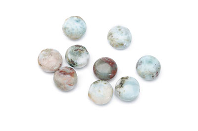 pearl larimar disc 10mm x1fil