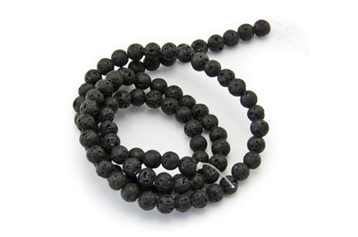 lava rock round 4mm x1 std (approx 96pcs)