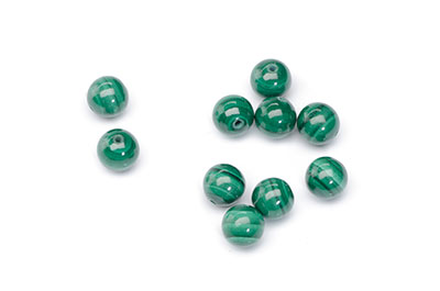 green malachite bead 8mm x1strand