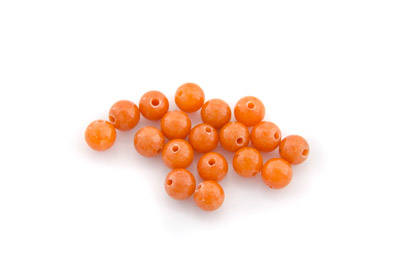 mashan jade orange round 6mm x1 std (approx 66pcs)