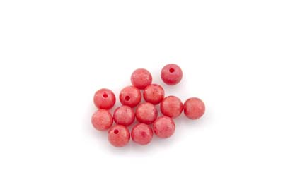 mashan jade light red round 6mm x1 std (approx 66pcs)