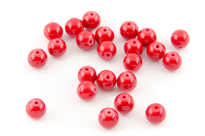 mashan jade red round 8mm x1 std (approx 50pcs)