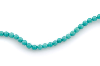 mashan jade teal green round 4mm x1 std (approx 95pcs)