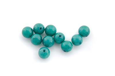 mashan jade teal green round 8mm x1 std (approx 50pcs)