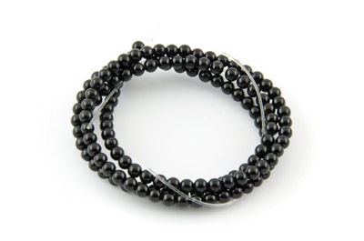 onyx black round 3mm x1 std (approx 133pcs)